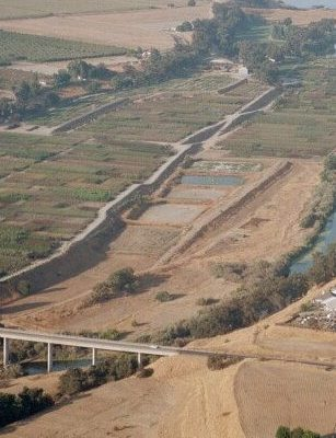 Tuolumne River Conservancy California - Waterford Riparian Restoration - Pre-restoration Aerial View